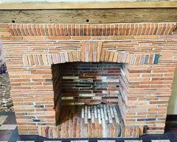 cheminée en brique  apres aerogommage